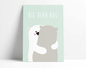 Postcard Big Bear Hug
