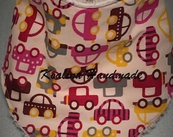 "A bandana bib ""little cars"""