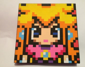 Princess Peach pixel canvas
