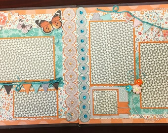 "Sisters""two page Scrapbook layout kit""0608"