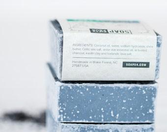 Anise Celtic Sea Salt Bar with Icelandic Lava Salt | Lava Soap | Salt Bar | Clay Bar with Activated Charcoal For Oily Skin