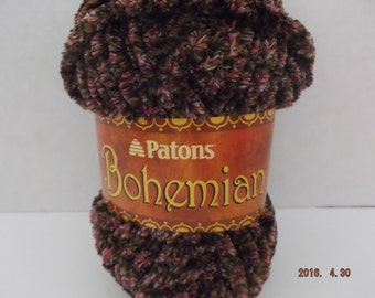 Patons Bohemian Yarn ~ #6 Super Bulky~ Colour: Wandering Wines ~ 80 grams