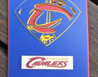 Cleveland Cavaliers Card - Super Miami Heat Fan, Basketball Team Card