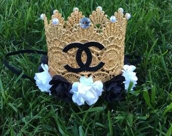 Chanel Birthday crown, Gold crown