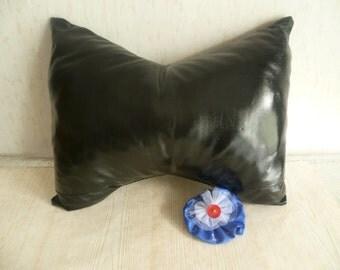 Leather Bow Pillow, Fun Pillow, Rockers Pillow, Handmade, 40cm, 16''