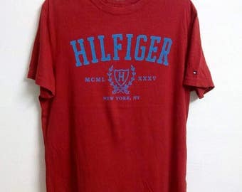 Sale! Rare!!! Tommy Hilfiger T Shirt Tommy Big Logo Big Spell Out Size Medium