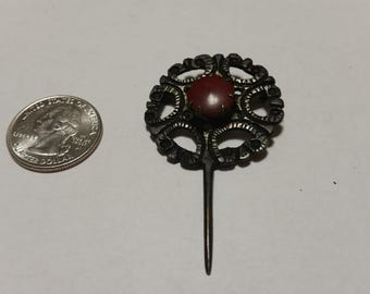 Vintage mourning jewelry pin badr