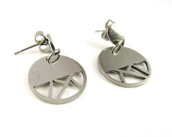 Geometric stainless steel earrings | Moonlight