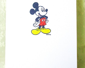 Mickey Mouse Card: Add a Greeting or Leave Blank