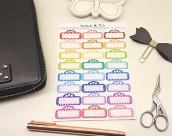 GLOSSY / PREMIUM MATTE  Coloured Movie Marquee Decorative Planner Stickers