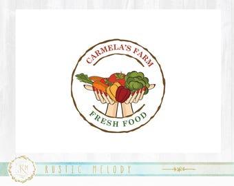 Food Blog Logo Design, Natural Food Logo, Organic Logo, Bakery Logo, Fruit Logo , Rustic Logo