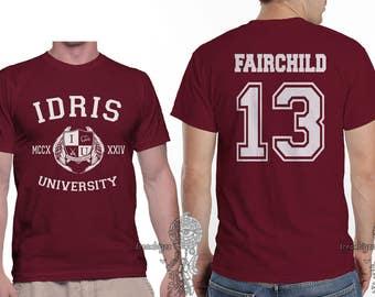 Fairchild 13 Idris University printed on MEN tee Maroon