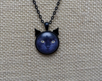 1 Inch personalized cat ear necklace