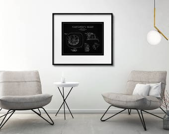Firefighter Patent Print Matted and Framed or Just Matted and Ready for Your Frame