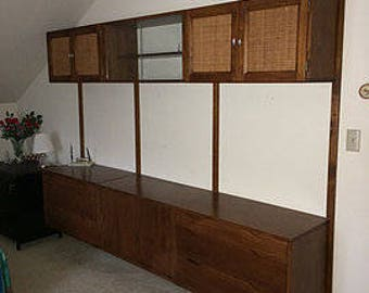 Danish walnut mid century wall unit