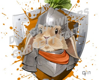 Rabbit Knight Sticker