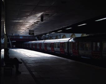 London Print, Fulham Broadway, London Art, Urban Photography, London Underground, London Tube, Train Station, Colour Photo Print, Unframed