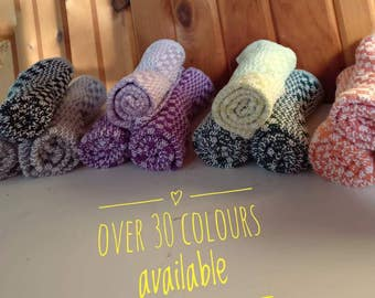Handwoven Dishcloths - 3 Pack - (natural fibers - 100% cotton) - Available in more than 30 colors