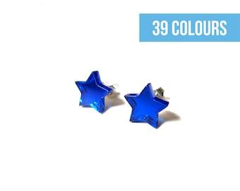 Star stud earrings | Gifts under 15 | Teeny tiny stud | Minimalist stud | Star posts | Black post earrings | Star earrings | Tiny stud
