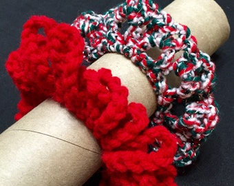 Hair Scrunchie III, Set of 2, Crochet Hair Scrunchie, Crochet Hair Tie, Ponytail Holder, Hair Accessory
