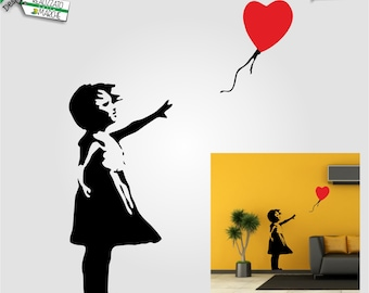 Banksy Wall Decal, Home Stickers