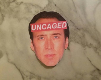 Nic Cage Uncaged Aesthetic Sticker