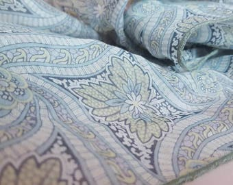 Handmade Scarf in Liberty's 'Frank Campbell' Print on Silk / Cotton Voile