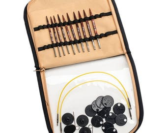 """Knitter's Pride Cubics 16"""" FREE ship Deluxe Special Interchangeable Needles Set Square Needles Wood Interchangeable Knit Pro Cubic Needles"""