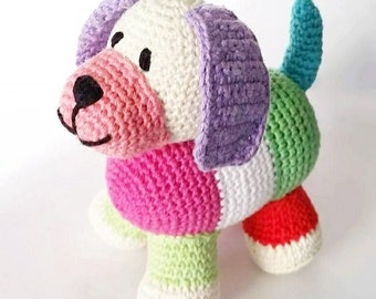 Stuffed dog, Baby toys handmade, Gender neutral baby gift, Easter basket, Baby toys, Basket stuffers, Stuffed animal, Easter basket fillers