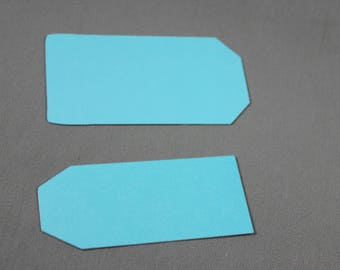 Blank Tags in Shimmer Aqua Blue
