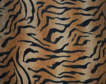 Brown Tiger Fleece Fabric - (1 YARD PIECE)