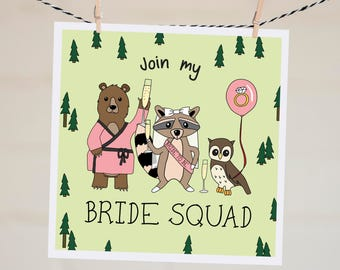 Join My Bride Squad Card | Funny Bridesmaid Proposal Card | Will You Be My Bridesmaid | Bridesmaid Card | Asking Card | Maid of Honour Card