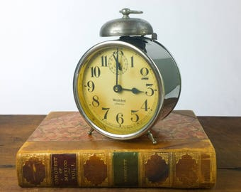 "Vintage 1920s Westclox ""America"" Peg Leg Alarm Clock"