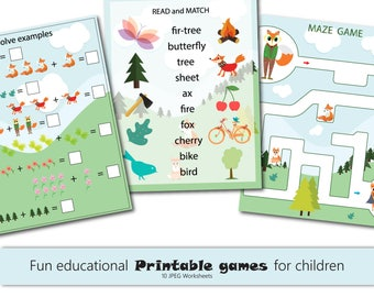 Fun Kids Printables Games Kids Games Preschool Science Curriculum Preschool-Kindergarten Worksheets Activities Fox Games 10 JPEG 8.5x11 in