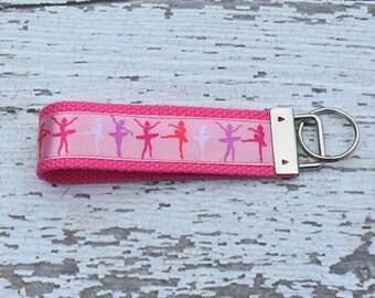 Key fob - girl key fob - dance teacher gift -  ballarina - dancer - ballet - cute key fob - gift for teen girl - gift for her - keychain