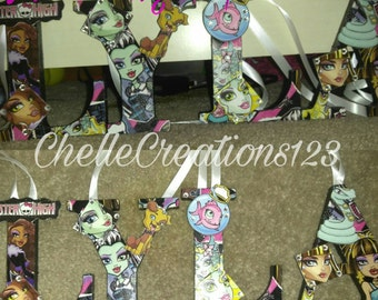 Monster High inspired letters Style #1