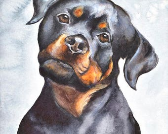 Dog No1 family water color
