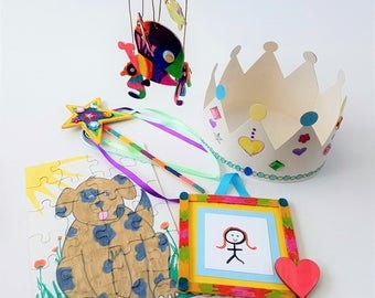 SALE ~ Kids craft activities 5 crafts in one kit - Weekend Craft Kit