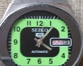 Original VINTAGE SEIKO 5 Automatic 21J Japan 6309  720A Running Watch            .
