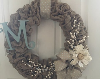 Classic Year-Round Monogrammed Wreath