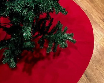 Christmas Tree Skirt Red Velvet