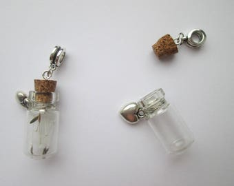 Glass bottle pendants for chains
