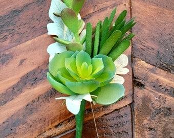 A Succulent buttonhole