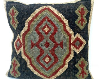 "Kilim Cushion Cover 18 x 18""  (45 x 45cm)"