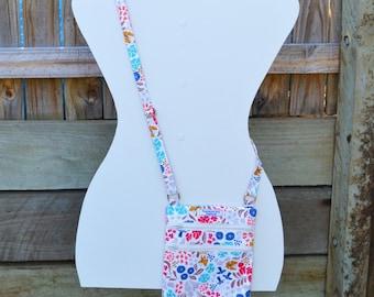 Cream Floral 'Emily' Cross Body Bag