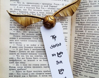 Harry Potter golden snitch unique Bookmark for magic, Little open Golden Snitch ornament Bookmarks gift idea for Harry Potter lovers, Snitch