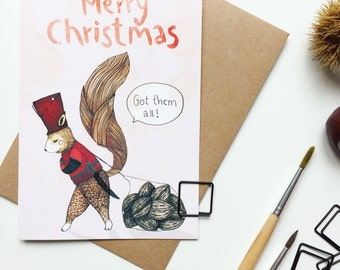 Merry Christmas / / greeting card, Christmas card, Merry, Christmas, gift, message, letter