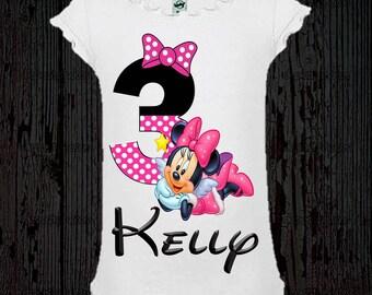 Minnie Mouse Birthday Shirt - Minnie Birthday Shirt