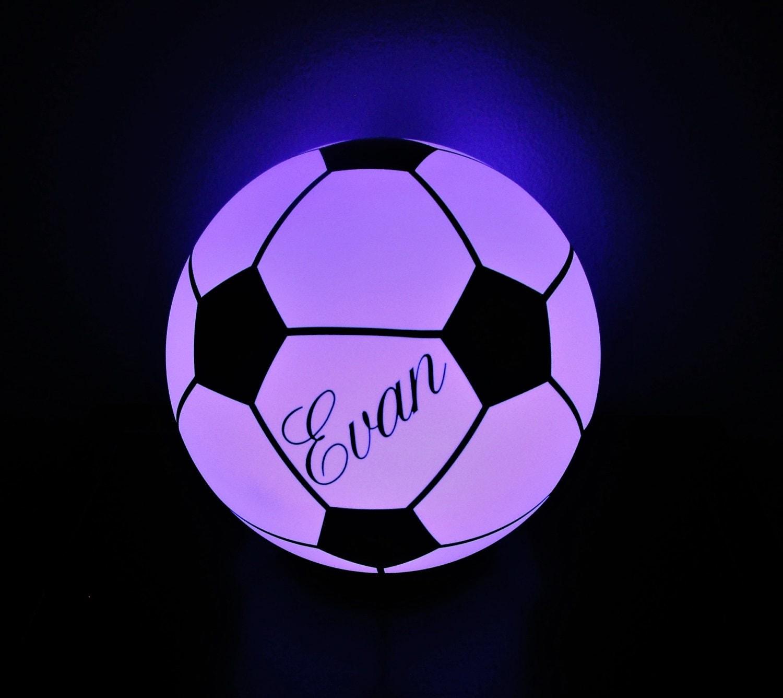 Soccer Ball Lamp Australia: LED Soccer Ball Light Personalize Football With Name Monogram