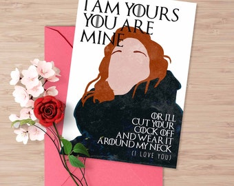Game Of Thrones Valentineu0027s Card, I Love You Card, Ygritte Jon Snow, I